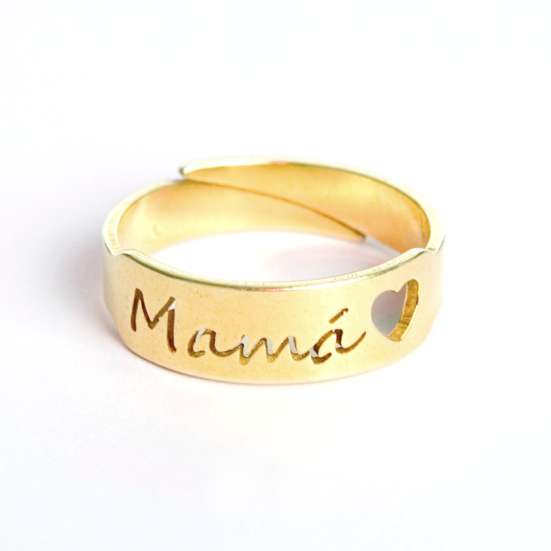 Anillo mam ba o oro bellota color for Bano de oro el yunque