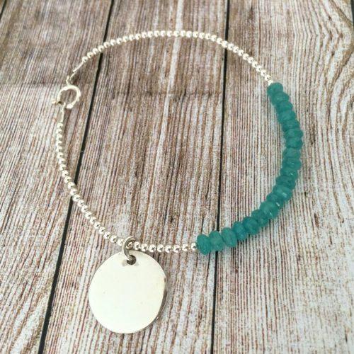 pulsera personalizada jade turquesa