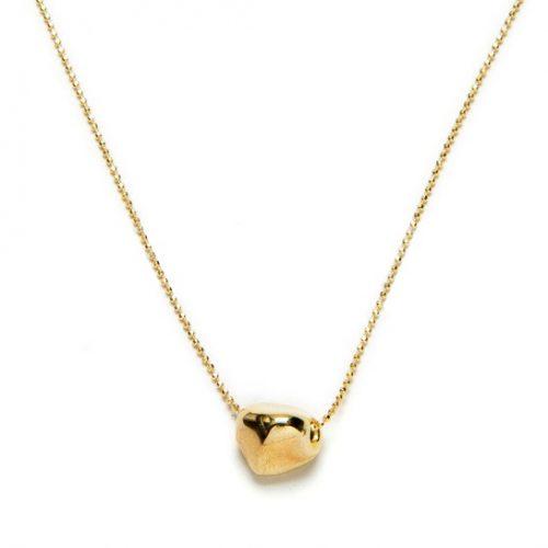 collar roca oro