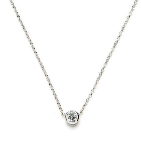 collar circonita plata