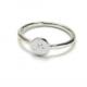 anillo plata inicial