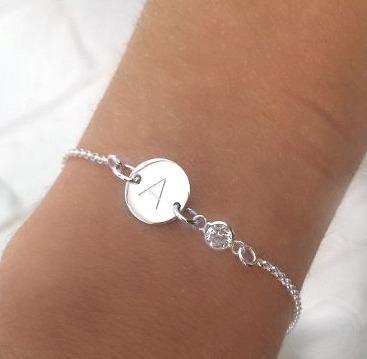 pulsera inicial plata