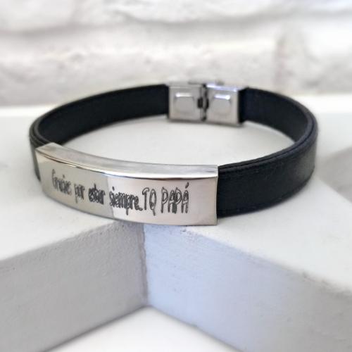 pulsera personalizada cuero