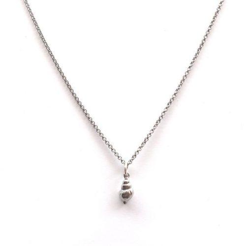 collar caracola plata