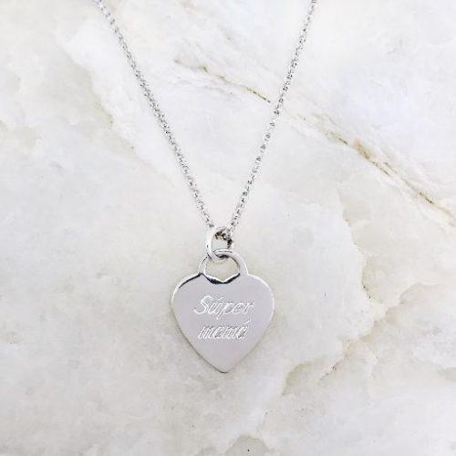Collar corazon plata