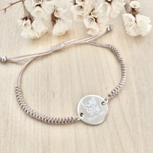 pulsera personalizada plata en nudo de serpiente